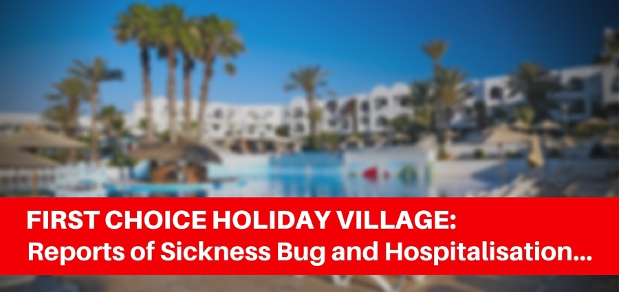 Reports of Sickness Bug and Hospitalisation MENORCA