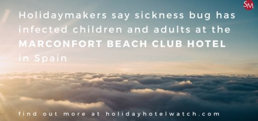 Holidaymakers say sickness bug has infected children and adults at the Marconfort Beach Club Hotel
