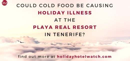 Could cold food be causing holiday illness at the Playa Real Resort in Tenerife?