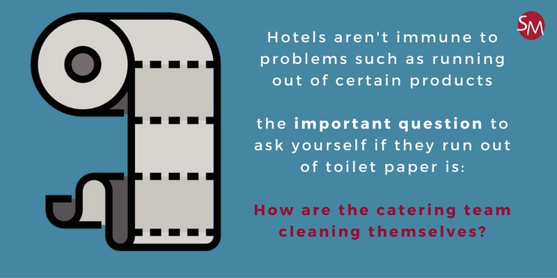 Toilet paper and hotel hygiene
