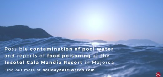 Possible contamination of pool water and reports of food poisoning at the Insotel Cala Mandia Resort