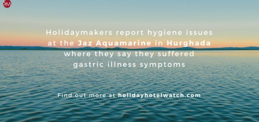Holidaymakers report hygiene issues at the Jaz Aquamarine where they say they suffered gastric illness symptoms