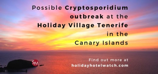Possible Cryptosporidium outbreak at the Holiday Village Tenerife