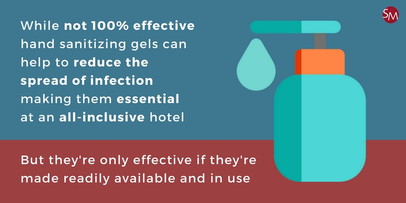 Hotel hand gel and the spread of infection