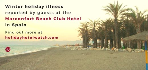 Winter holiday illness reported by guests at the Marconfort Beach Club Hotel