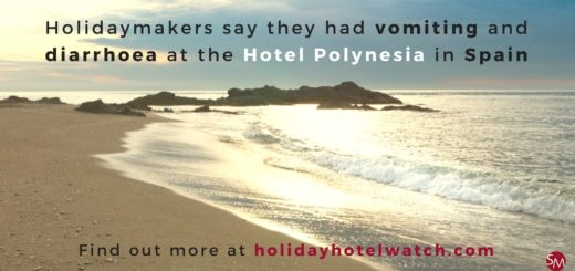 Holidaymakers say they had vomiting and diarrhoea at the Hotel Polynesia in Spain