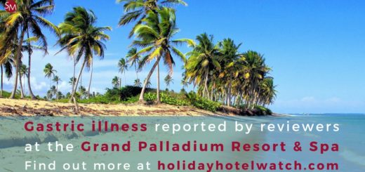 Gastric illness reported by reviewers at the Grand Palladium Resort & Spa