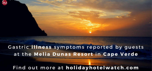 Gastric illness symptoms reported by guests at the Melia Dunas Resort