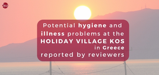 Potential hygiene and illness problems at the Holiday Village Kos reported by reviewers