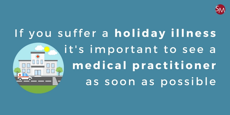 Visiting the hospital or a medical centre with a holiday illness