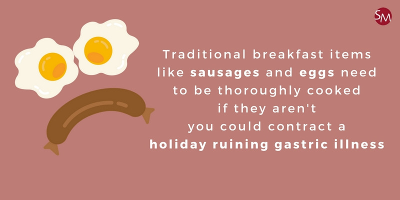 Sausages, eggs and holiday illness