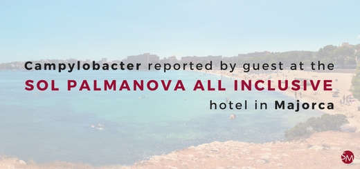 Campylobacter reported by guest at the Sol Palmanova All Inclusive hotel in Majorca