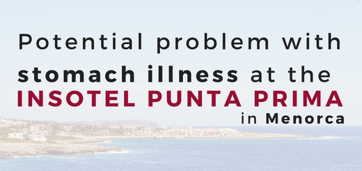 Potential problem with stomach illness at the Insotel Punta Prima in Menorca