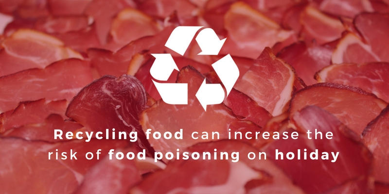 Recycled food and the risk of food poisoning on holiday