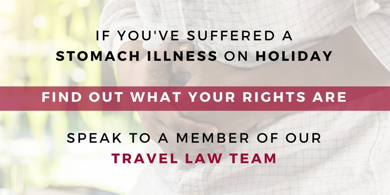 Contact our travel law team about your holiday stomach illness