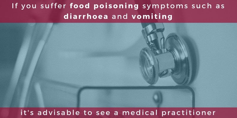 Food poisoning symptoms and seeing a medical practitioner