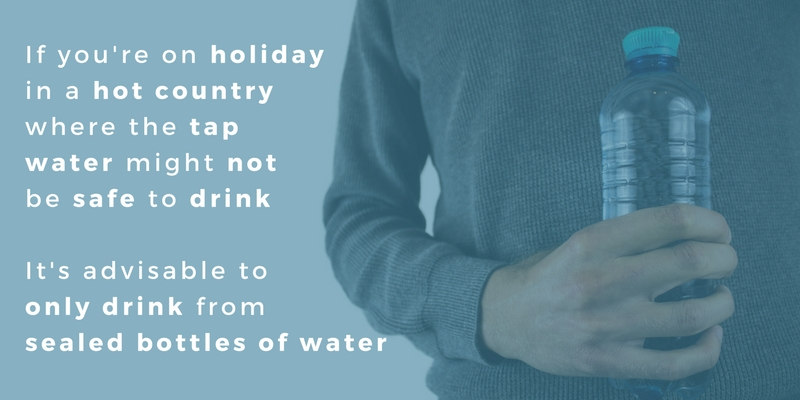 Staying healthy while drinking water on holiday